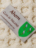 Ahern Clan Aran Throw - Label