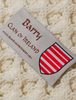 Barry Clan Aran Throw - Label