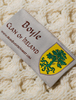Boyle Clan Aran Throw - Label