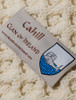 Cahill Clan Aran Throw - Label
