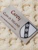 Carey Clan Aran Throw - Label