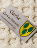 Clarke Clan Aran Throw - Label