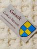 Cusack Clan Aran Throw - Label