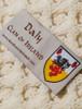 Daly Clan Aran Throw - Label