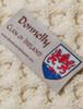 Donnelly Clan Aran Throw - Label