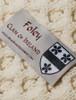 Foley Clan Aran Throw - Label