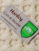 Hanley Clan Aran Throw - Label