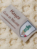 Hayes Clan Aran Throw - Label