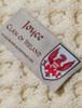Joyce Clan Aran Throw - Label