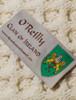 O'Reilly Clan Aran Throw - Label
