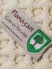 Flanagan Clan Aran Throw - Label