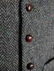 Donegal Tweed Waistcoat - Charcoal