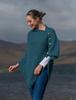 Super Soft Trellis Poncho - Irish Sea