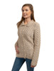 Ladies Merino Button Cardigan - Parsnip