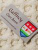 Gaffney Clan Aran Throw - Label