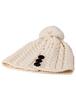 Merino Pom Pom Hat - White