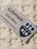 Coleman Clan Aran Throw - Label