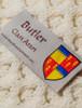 Butler Clan Aran Throw - Label