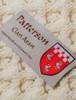 Patterson Clan Aran Throw - Label