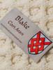 Blake Clan Aran Throw - Label