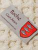 Roche Clan Aran Throw - Label