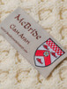 Mc Bride Clan Aran Throw - Label