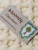 Mooney Clan Aran Throw - Label