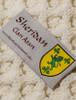 Sheridan Clan Aran Throw - Label