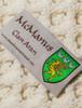 Mc Manus Clan Aran Throw - Label