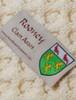 Rooney Clan Aran Throw - Label