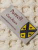 Purcell Clan Aran Throw - Label