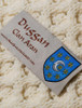 Duggan Clan Aran Throw - Label