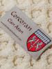 Corcoran Clan Aran Throw - Label