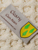 Cleary Clan Aran Throw - Label