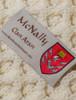 Mc Nally Clan Aran Throw - Label