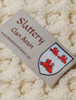 Slattery Clan Aran Throw - Label