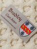 Bradley Clan Aran Throw - Label