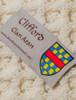 Clifford Clan Aran Throw - Label