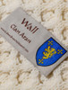 Wall Clan Aran Throw - Label