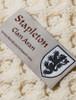 Stapleton Clan Aran Throw - Label