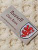 Russell Clan Aran Throw - Label