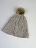 Aran Bobble Hat Toasted Oat