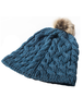 Aran Bobble Hat - irish Sea