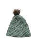 Aran Bobble Hat- Sea Foam