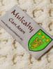 Mulcahy Clan Aran Throw - Label Detail