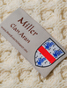 Miller Clan Aran Throw - Label