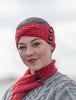 Merino Buttoned Headband - Chillipepper