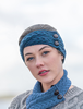 Merino Buttoned Headband - Atlantic
