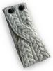 Merino Buttoned Headband - Natural White