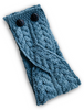 Merino Buttoned Headband - Misty Marl